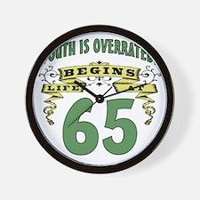 Life Begins At 65th Birthday Wall Clock