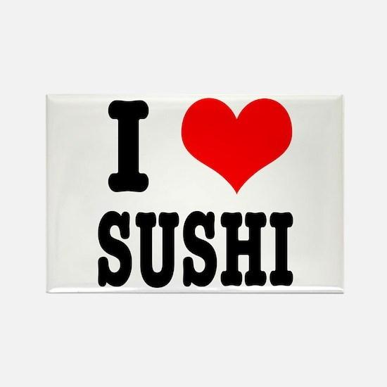 I Heart (Love) Sushi Rectangle Magnet