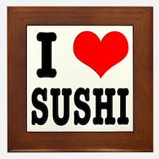I Heart (Love) Sushi Framed Tile