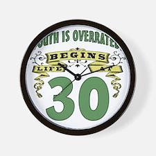 Life Begins At 30th Birthday Wall Clock
