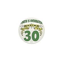 Life Begins At 30th Birthday Mini Button