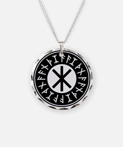 Odin's Protection No.1_1c Necklace Circle Charm