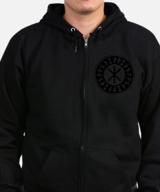 Odin's Protection No.1_1c Zip Hoodie
