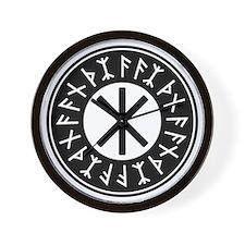 Odin's Protection No.1_1c Wall Clock