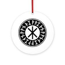 Odin's Protection No.1_1c Round Ornament