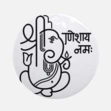 Ganesh Ganesa Ganapati 05_1c Round Ornament