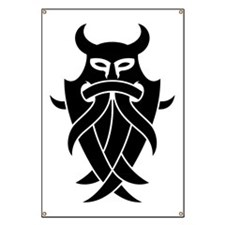 Odin's Mask Tribal Banner