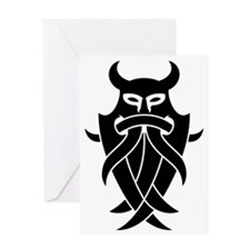 Odin's Mask Tribal Greeting Card