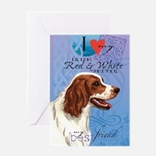 red-white-kindle Greeting Card