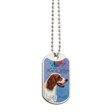 red-white-kindle Dog Tags