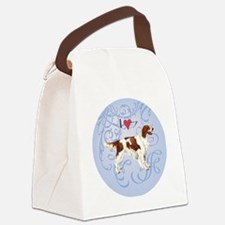 red-white-charm2 Canvas Lunch Bag