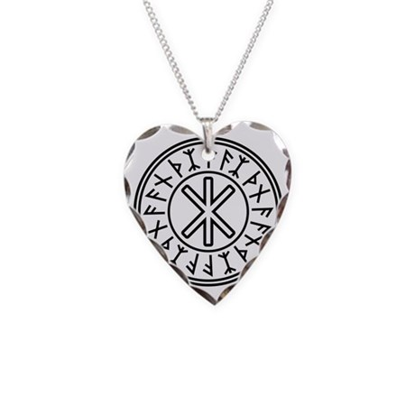 Odin's Protection No.2_1c Necklace Heart Charm