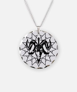 Satanic Goat Head with Chaos Necklace