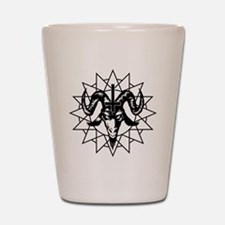 Satanic Goat Head with Chaos Star Shot Glass