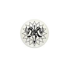 Satanic Goat Head with Chaos Star Mini Button