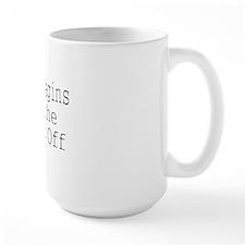 Life begins at the Kick Off-white Mug