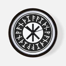 Odin's Protection No.1_2c Wall Clock