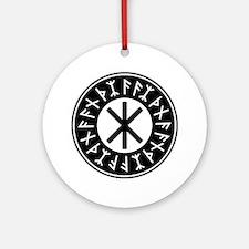 Odin's Protection No.1_2c Round Ornament