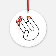 The Shocker Hand Round Ornament