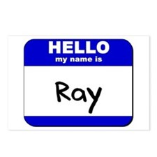 hello my name is ray  Postcards (Package of 8)