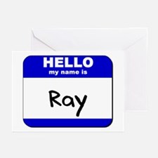 hello my name is ray  Greeting Cards (Pk of 10