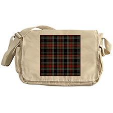Black Stewart Scottish Clan Messenger Bag