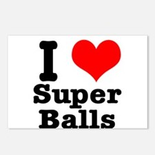 I Heart (Love) Super Balls Postcards (Package of 8