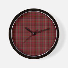 Royal Stewart Scottish Tartan Wall Clock