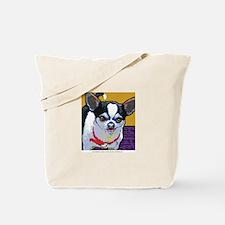 Black & White Chihuahua Tote Bag