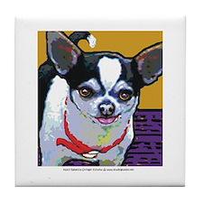Black & White Chihuahua Tile Coaster