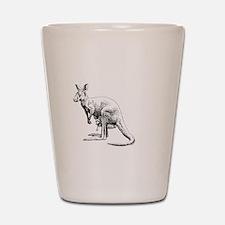 kangaroo trex deer funny tyrannosaurus Shot Glass