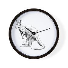 kangaroo trex deer funny tyrannosaurus Wall Clock