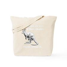 kangaroo trex deer funny tyrannosaurus Tote Bag