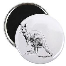 kangaroo trex deer funny tyrannosaurus Magnet