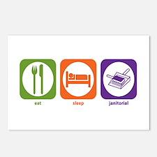 Eat Sleep Janitorial Postcards (Package of 8)