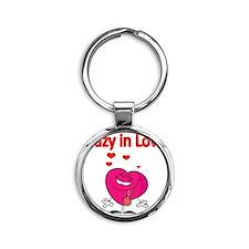 Crazy in love Round Keychain