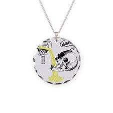 Skull Cant Haz Beer Necklace