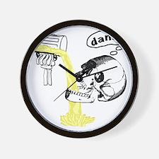 Skull Cant Haz Beer Wall Clock