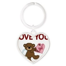 LOVE YOU Heart Keychain