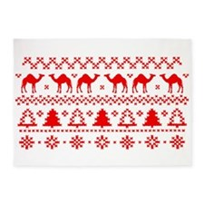 Christmas Hump Day Camel Ugly Sweater 5'x7'Area Ru