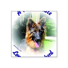 "A Proud Male Long Coat Shep Square Sticker 3"" x 3"""