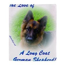 The Love of a Long Coat German Sheph Throw Blanket