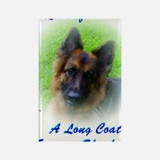 The Love of a Long Coat German Sh Rectangle Magnet