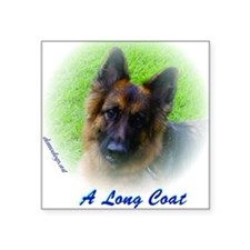 """The Love of a Long Coat Ger Square Sticker 3"""" x 3"""""""