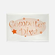 Computer Diva [orange] Rectangle Magnet