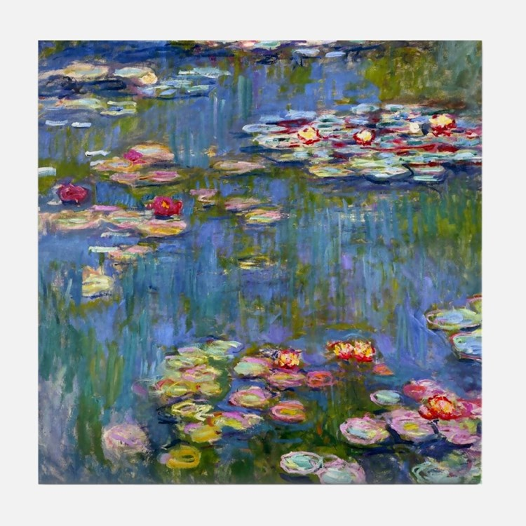 Water Lilies 1916 by Claude Monet Tile Coaster