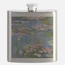 Water Lilies 1916 by Claude Monet Flask