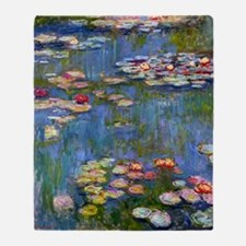 Water Lilies 1916 by Claude Monet Throw Blanket