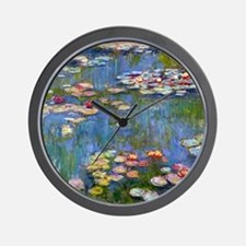 Water Lilies 1916 by Claude Monet Wall Clock
