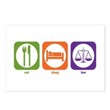 Eat Sleep Law Postcards (Package of 8)